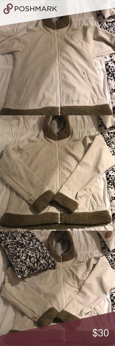 Marmot Jacket Gently used Marmot Jacket, white and brown. Very comfortable. Marmot Jackets & Coats