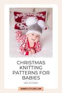 Christmas Knitting Patterns For Babies. Make something festive for baby with one of these free baby knitting patterns. Make hats and more for the Christmas season using up yarns from your yarn stash. Christmas Knitting Patterns, Baby Knitting Patterns, Baby Patterns, Christmas Tree Hat, Christmas Onesie, Knitting For Kids, Free Knitting, Onesie Pattern, Baby Sweater Patterns