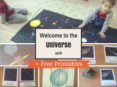 Welcome to the Universe Unit + Free Printables from I Believe in Montessori