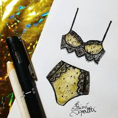 ✨▪ #draw #drawing #fashion #love #inlove #fashionillustration #minimalist #illustration #lingerie #intimates #instagood #fashiondesign #designdemoda #moda #art #arte #croqui #handmade #lookdodia #lookoftheday #lace #vintage #fashion4arts #golden