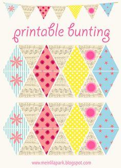 free printable DIY bunting with vintage flair - ausdruckbare Wimpelgirlande - freebie | MeinLilaPark – digital freebies