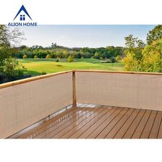Product image alion home banha beige elegant privacy screen for backyard deck, patio, balcony, fence Backyard Playground, Backyard Fences, Outdoor Landscaping, Pool Fence, Pool Porch, Deck Patio, Fence Design, Patio Design, Garden Design