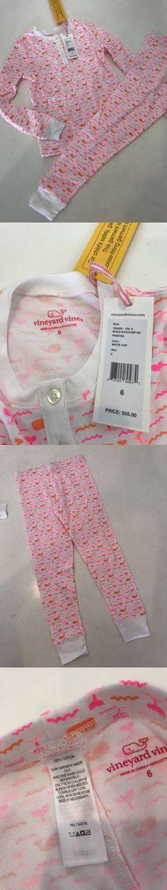 2d9b8f4092 Sleepwear 99735: Nwt 6 Yr Vineyard Vines Pink Whale Wave Sleep Set Pant Pj S