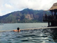 Batur National Hot Spring a.k.a Toya Bungkah.   BNHS have 3 pools. They are for kids, teenager (approx 1m) and adults (approx 1.60m)  Located at East side of Bali, Batur. It took 3 hours by car from Ngurah Rai Airport, and 45 minutes from Ubud.  Entrance fee for domestic tourists is IDR 60.000 and International tourists is IDR 150.000 (special banana frites) :p The price include towels, lockers, and   drink. For the lockers, guests should deposit cash min IDR 20.000 for key guarantee.
