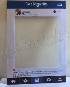 Cuadro Selfie Personalizado Instagram #decoracion #cuadroSelfie