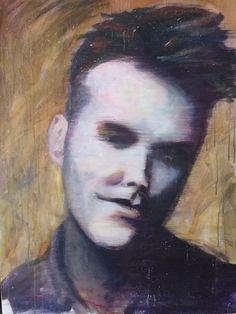 """Celine Achour """"Morrissey"""" Acrylique sur toile 100x73 cm"""
