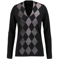 Pringle of Scotland Argyle cashmere sweater ($310) ❤ liked on Polyvore featuring tops, sweaters, dark gray, wool cashmere sweater, argyle sweater, slim fit sweaters, cashmere sweater and cashmere tops