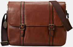 1e82e091e79a Estate Leather Messenger Bag - Lyst Brown Leather Messenger Bag