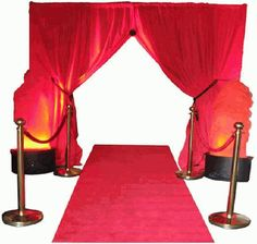 Red Draped Entrance Kit