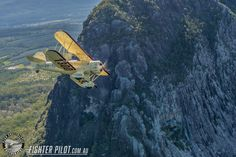 Waco Bi-Plane on a Fighter Pilot Sunshine Coast Australia adventure flight. Photography by Mark Greenmantle. Adventure Company, Coast Australia, Fighter Pilot, Sunshine Coast, Plane, Sci Fi, Aircraft, Photography, Pilots