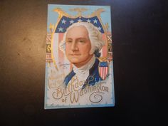 antique george washington postcard posted 1911 by postcardvault on Etsy