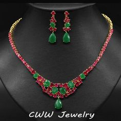Natural Ruby & Emerald 18K Y Gold Sterling Infusion