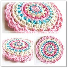 Free Pattern: Little Spring Mandala. Love the ice cream colours