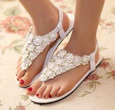 Casual summer sandals flat bottom
