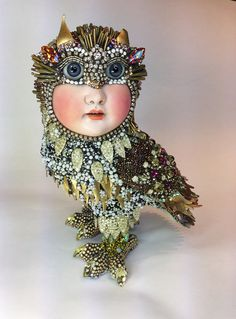 Saw the beaded owl by Betsy Youngquist by betsyyoungquist on Etsy