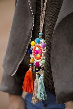 """Khaki embroidered jacket"" : Alice rises up Textile Jewelry, Fabric Jewelry, Boho Jewelry, Jewelry Art, Beaded Jewelry, Jewelery, Handmade Accessories, Women's Accessories, Handmade Jewelry"