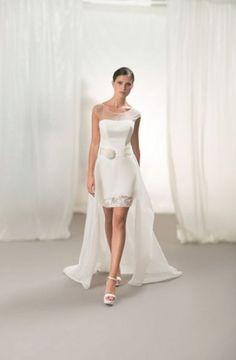 85 vestidos de noiva curtos lindos e modernos que vão te impressionar! Image: 63