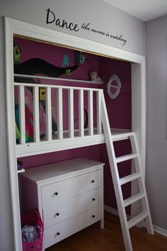 Reading nook kids, bed in closet, playroom closet, closet playhouse, boys c Girls Reading Nook, Reading Nook Closet, Closet Nook, Playroom Closet, Loft Closet, Bed In Closet, Bed Nook, Playroom Storage, Kid Closet