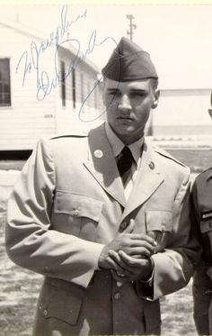 Elvis doing something celebrities would ever do today...put their career on hold to serve their country.