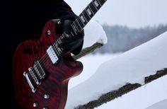 AROK-TM Custom Guitar with Tune-o-matic bridge Cutaway, Guitars, Bridge, Bridge Pattern, Morning Suits, Bridges, Guitar, Legs, Vintage Guitars