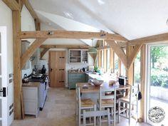 kitchen-interior-oak-framed-extension-inglis. The black door ironmongery can be purchased at Priors. http://www.priorsrec.co.uk/door-furniture/door-hinges/iron-door-hinges/c-p-0-0-3-31-48