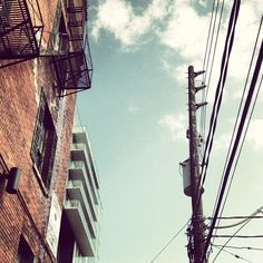 gentrify by Josh Jensen, via Flickr | #warm #cool #orange #teal #architecture #sky #iphoneography