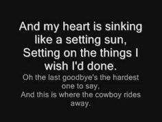 The saddest song ever written, because when George sings it you know the concert is over.