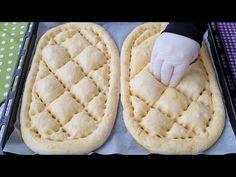 Ramazan Pidesinde Bu Tariften Şaşmayın💯Fırındakilere taş çıkartan lezzet 👍 - YouTube Albanian Recipes, Turkish Recipes, Bread Recipes, Baking Recipes, Bread Shaping, Bread Cake, Bread And Pastries, Food Decoration, Empanadas