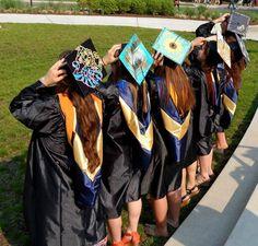 Graduation   Decorated grad caps #sororitysugar