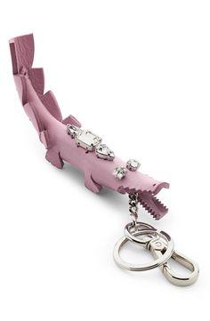 Fendi Leather Crocodile Key Fob Charm