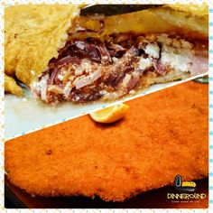 Fried pizza or cutlet? 😁 Pizza fritta o cotoletta? #dinneround #fried #pizza #schnitzel #napoli #love_food #love #foodporn #food #food_instalove #estimatore_selettivo #mangiare #cibo #pork #neapel #excursion #dinne #comerbien #viaje #napoles #instamoment #picoftheday #restaurant #pizzeria #foodblogger #foods #wiener #liebe #kuchen
