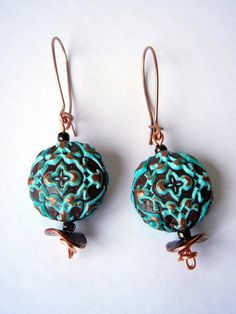 Romantic Copper Earrings | Flickr - Photo Sharing!