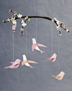 Bird Mobile. Suggested use is for a baby mobile - but these is just beautiful - period.