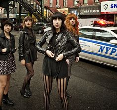 Dum dum girls in leather jackets