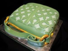 Green Coach Purse Cake-By The Mad Platters