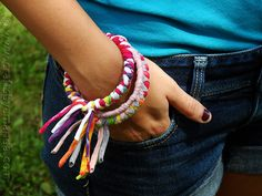 These colorful bangles are an easy to make recycled craft and perfect for a teenager or preteen! All you need are inexpensive bangle bracelets and some old t-shirts to make these pretty fashion statements. These would be a great girl scout craft or camp craft as well. Because the braided material will make the openingRead More »