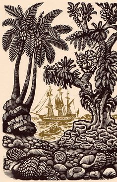 BOOK INFO - The Swiss Family Robinson by Johann, Wyss, illustrated with engravings by David Gentleman, introduced by Robert Cushman Murphy. Art And Illustration, David Gentleman, Swiss Family Robinson, Et Tattoo, Scratchboard, Wood Engraving, Printmaking, Images, Fine Art