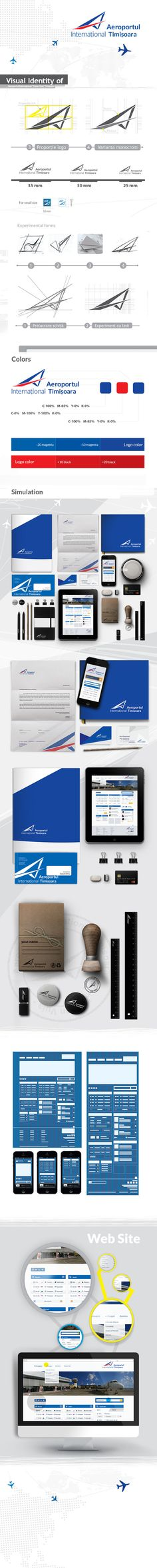 Visual Identity of Timisoara International Airport by Gusat Silviu, via Behance