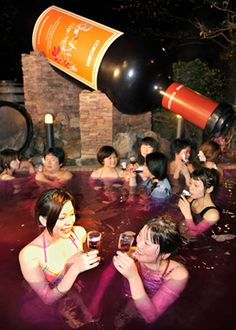 Japan's Yunessun: A Spa Experience Like No Other. Fun and be careful, don't get too high and drunk. Hic! :D