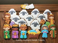 Nativity Cookies using cutters from Bobbi's Cookies and Cutters by Aunty Cookie