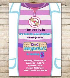 Doc McStuffins Birthday Invitation - Doc McStuffin Party