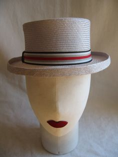 004 Canotier gris by POLITA HATS, via Flickr