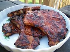 BBQ pork chops on the grill or in the skillet