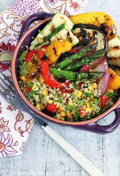 grilled veggies quinoa salad