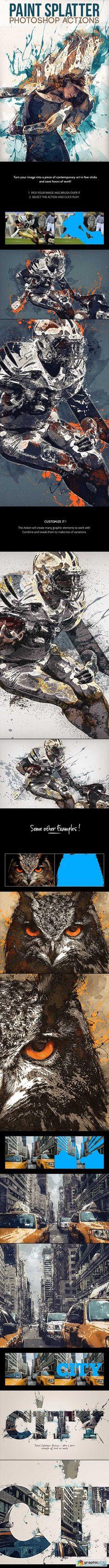 Paint Splatter - Photoshop Actions