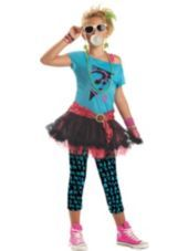 Girls 80's Valley Girl Costume - Party City
