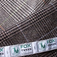 themerchantfox:  New cloth collection: Fox Tweed - The classic Glen checks to kick start this very British bunch! Woven in 100% British at @foxbrothers1772 #tailoring #bespokesuits #wool #bestofbritish #madeinbritain #menswear