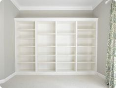 IKEA Billys 10 Ways: The World's Most Versatile Bookcase Here's a tutorial, from Centsational Girl, on how to get a similar look at home. This entire wall of bookcases only cost $365.