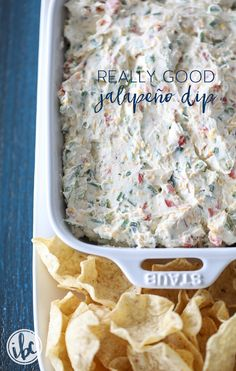 This Really Good Jalapeño Dip is delicious and so simple to make!