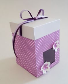 ArtandChoco: Lilac Rectangle Treat Box (reinforced)